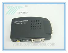 best price av to vga/ rca to vga converter box Supports PAL/NTSC/SECAM