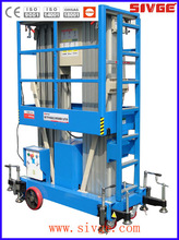 Dual mast hydraulic aerial man lift with 8m platform height