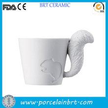 Interesting wholesale 3D squirrel Porcelain Mug