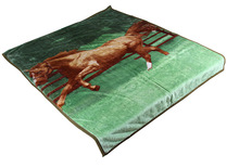 2015 super soft horse print blanket sheets/3d picture printed horse print blanket sheets