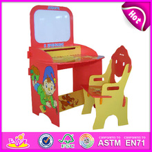 2015 Drawing board desk set school table for kid,wooden toy school table for children,cheap school table set for baby WJ278566