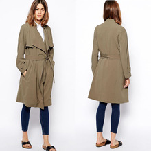 new arrival waterfall drape women fashion coats 2014