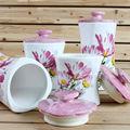 4 tamanho margarida projeto cerâmica vasilha comida, Dolomite Jar para armazenamento de cozinha