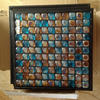 Mixing stainless steel glass mosaic gold leaf 3d glass tile