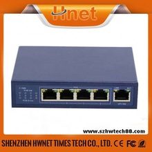5 ports IEEE802.3at 10/100M POE Switch with 4 port POE and 1 PORT FIBER