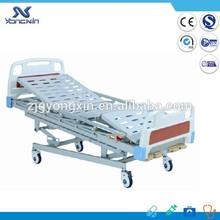 Four crank foldable side rail manual patient beds YXZC-004