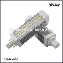 WEIER Lighting G24 PLC 8W 85-265V AC 42SMD 5050 Led Light