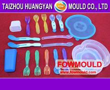 OEM customer injection plastic cutlery spoon knife folk sets mold maker