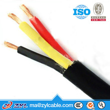 3 core rubber fleixble wire/3 core flexible copper wire/copper wire 4mm