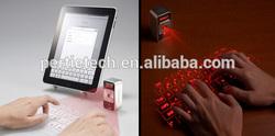 tablet pc mini size projected laser keyboard flexible wireless keyboard