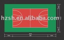 Mobile basketball flooring