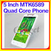Latest Android 4.2 Quad Core MTK6589 5 inch cheap slide touch screen tv mobile phone