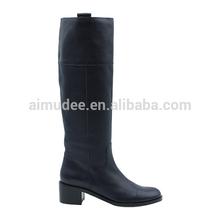 Flat boots dark blue latest boots women