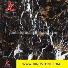 black golden flower marble