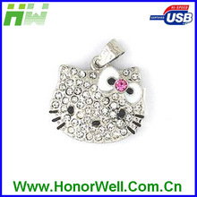 Data Load Birthday Gift HW-UJ-004 Mini Cute Cat with BowknotJewelry USB Memory Stick