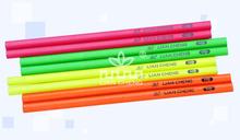 Round HB Wooden Fluorescent Pencil , Wholesale School Supplies