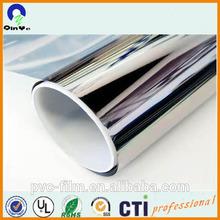 high glossy mirror silver metalized PVC sheet