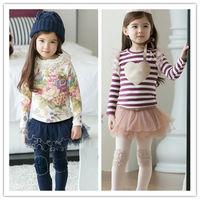 HFR-S1408615 New design hot sale autumn-winter sweet cotton baby girl pantskirt