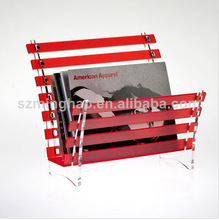 special design acrylic magazine display rack/file display stand
