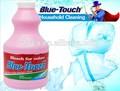 Azul- táctil de la muestra libre de venta al por mayor 2014 blanqueador de cloro líquido, a granel blanqueador de cloro líquido