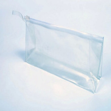 2015 clear transparent recyclable plastic package stationery pen bags cosmetics PVC zipper bag