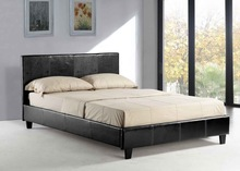 cheap faux PU leather bed, faux leather PU bed, cheap faux leather bed Full UK F/R standard
