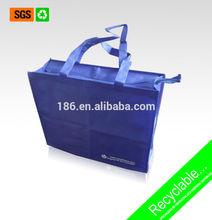 Bulk reusable shopping bag with zipper/large shopping bag with zipper