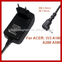 Iconia Tablet W3 A100 A200 A500 EU Plug 12V 1.5A Power Adapter