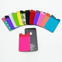 Fashionable mobile phone back smart card pouch&wallet