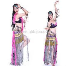 Hot Pink Stylish Fringe Hip Scarf sexy tribal belly dance bra