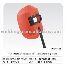 Handheld Groundwood Paper Welding Mask/welding helmet