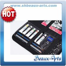 Acrylic Drawing Set-Brush Case/Acrylic Pad/5ml,6color acrylic paint, 1pc Drawing Pencil/ Brush/ Sharpner/ Eraser