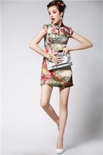 2014 SSCShirts Chinese-American printed silk dress