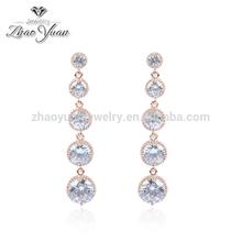 Elegant 18k gold austria crystal long earrings ladies earrings designs pictures