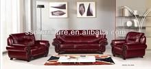 high quality modern sofa set purple leather sofa made in China
