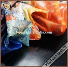 Custom digital print modern fabric polyester satin for home textile