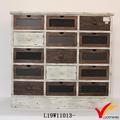 antique estilo retro mobília do armário de madeira da gaveta multi