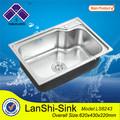 armadio ls6243 profondo bacino ristorante profondità mobile per lavare i piedi lavello in acciaio inox