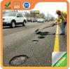 Raining season use cold asphalt for road pothole repair