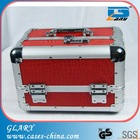 acrylic vanity case/transparent aluminum make up train case/ 3 in one fashional travel cosmetic case