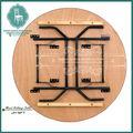 usado redonda de madeira banquete mesa dobrável para venda