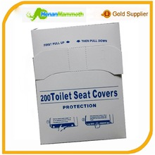 Virgin pulp 1/4 Fold Toilet Seat Covers White for dispenser
