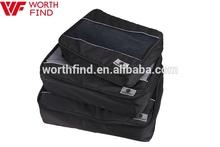 Black Men Large Travel 3pcs Packing Cubes Single Compartment Wholesale