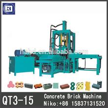 QT3-15 cement brick machine / concrete solid brick making machine