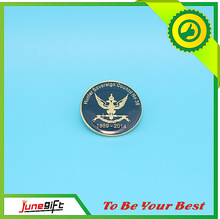 2014 personalizado preto nickle chapeamento comemorativa de metal pin emblemas