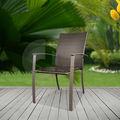 Apilable al aire libre Rattan sillas para comer