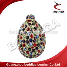 Egg coloured diamond crystal ladies fashion bags crystal carved crystal clutch bag