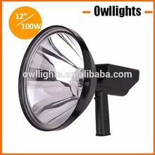 New 300mm 100w HID Hand Spot Light, 4x4 Handheld Spot Lighting, High Power HID cigarette lighter xenon light