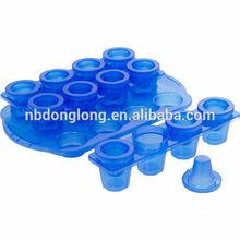 ice shot glass mold/glass ice bucket