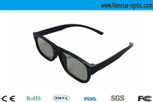 Light linear polarized 3d glasses for cinema with newest style and low price